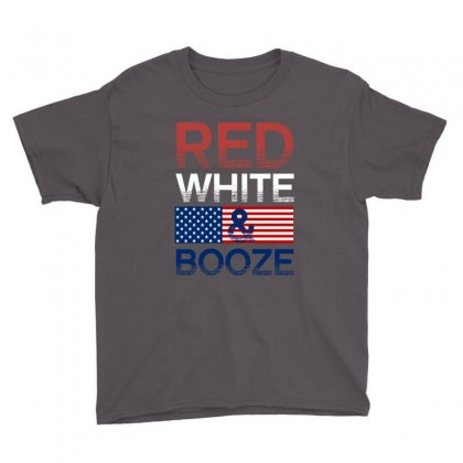 Red White And Booze Youth Tee Designed By Rardesign