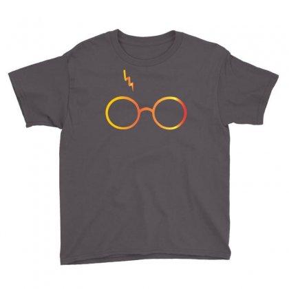 Harry Potter Lightning Glasses Youth Tee Designed By Designbysebastian