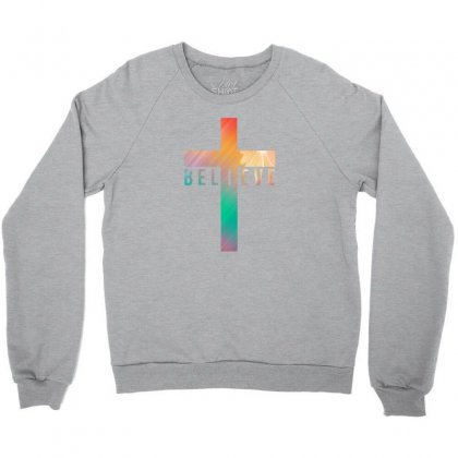 I Believe Cross Crewneck Sweatshirt Designed By Killakam