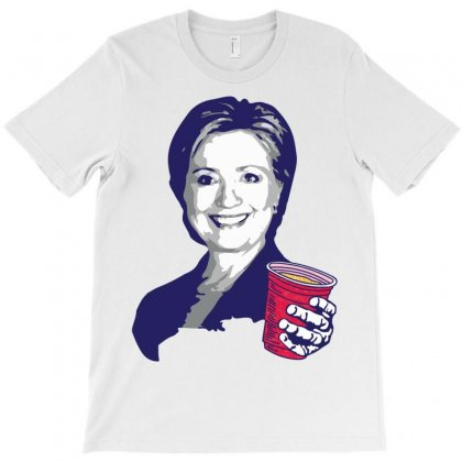 Hillary Clinton Celebrating 4th Of July T-shirt Designed By Tshiart