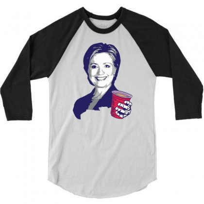Hillary Clinton Celebrating 4th Of July 3/4 Sleeve Shirt Designed By Tshiart