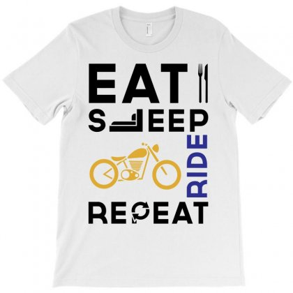 Eat Sleep Ride Repeat T-shirt Designed By Designbysebastian
