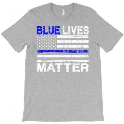 Blue Lives Matter T-shirt Designed By Eugene