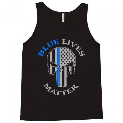 Blue Lives Matter Tank Top Designed By Eugene