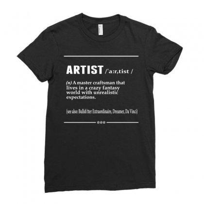 Artist Noun Ladies Fitted T-shirt Designed By Designbysebastian