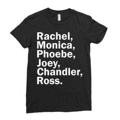 Rachel, Monica, Phoebe, Joey, Chandler,ross. Ladies Fitted T-shirt Designed By Designbysebastian