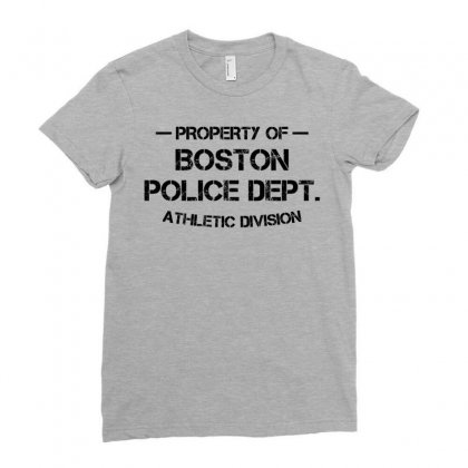 Property Of Boston Police Dept. Athletic Division Ladies Fitted T-shirt Designed By Designbysebastian