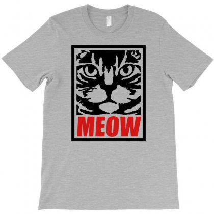Funny Cat Meow T-shirt Designed By Gematees