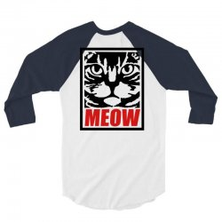 funny cat meow 3/4 Sleeve Shirt | Artistshot