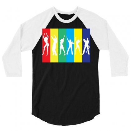 Rainbow Club 3/4 Sleeve Shirt Designed By Designbysebastian