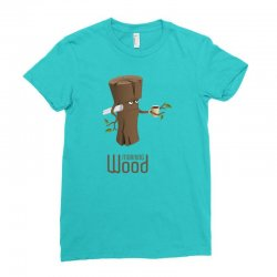 funny morning wood Ladies Fitted T-Shirt | Artistshot
