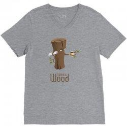 funny morning wood V-Neck Tee | Artistshot