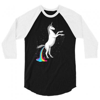 Rainbow Diarrhea 3/4 Sleeve Shirt Designed By Gematees