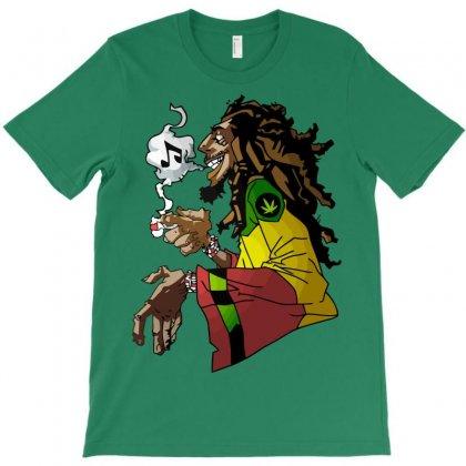 Rasta Weed And Music T-shirt Designed By Mdk Art