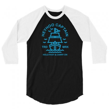 Brave Ship 3/4 Sleeve Shirt Designed By Tonyhaddearts