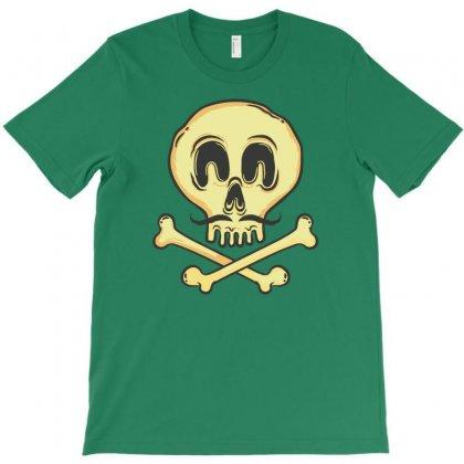 Funny Skull Mustache T-shirt Designed By Tonyhaddearts