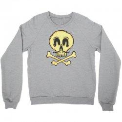 funny skull mustache Crewneck Sweatshirt | Artistshot