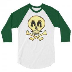 funny skull mustache 3/4 Sleeve Shirt | Artistshot