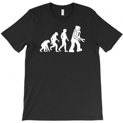 Robot Evolution T-shirt Designed By Tonyhaddearts