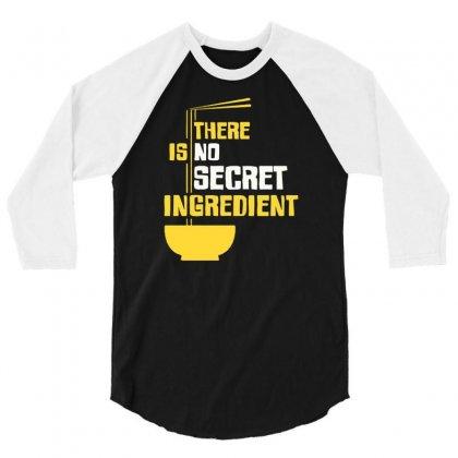 Secret Ingredient 3/4 Sleeve Shirt Designed By Tonyhaddearts