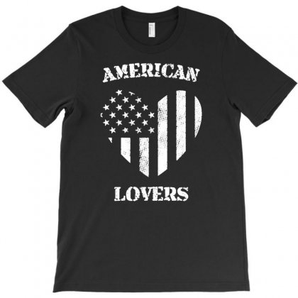 American Lovers T-shirt Designed By Tonyhaddearts