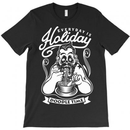 Everyday Is Holiday T-shirt Designed By Mdk Art
