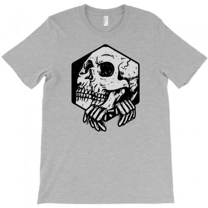 Skull Hexagon T-shirt Designed By Tonyhaddearts