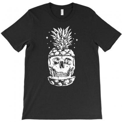 Skull Pineapple T-shirt Designed By Tonyhaddearts