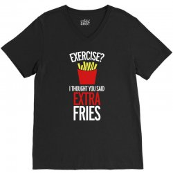 extra fries V-Neck Tee | Artistshot