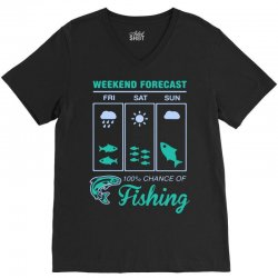 weekend fishing V-Neck Tee | Artistshot