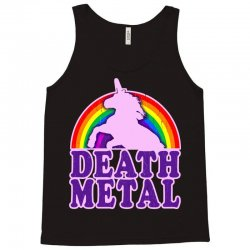 funny death metal unicorn rainbow Tank Top | Artistshot