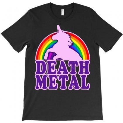 Funny Death Metal Unicorn Rainbow T-shirt Designed By Mdk Art