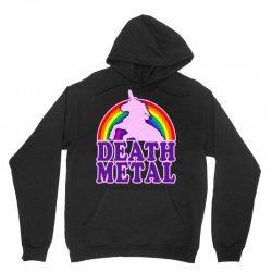 funny death metal unicorn rainbow Unisex Hoodie | Artistshot