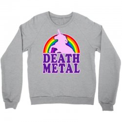 funny death metal unicorn rainbow Crewneck Sweatshirt | Artistshot