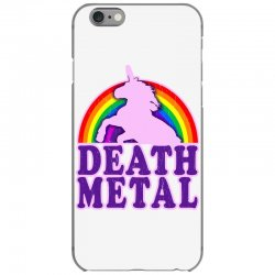 funny death metal unicorn rainbow iPhone 6/6s Case | Artistshot