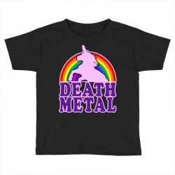 funny death metal unicorn rainbow Toddler T-shirt | Artistshot