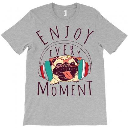 Pug Enjoy Music Moment T-shirt Designed By Mdk Art