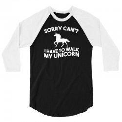 unicorn, television, funny, geek, humour, parody, retro 3/4 Sleeve Shirt | Artistshot