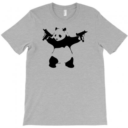 Panda Holding Machine Guns T-shirt Designed By Tonyhaddearts