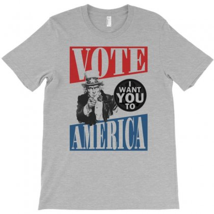 Uncle Sam Vote T-shirt Designed By Tonyhaddearts
