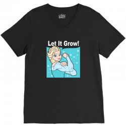 funny gym elsa let it grow frozen fitness V-Neck Tee | Artistshot