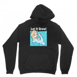 funny gym elsa let it grow frozen fitness Unisex Hoodie | Artistshot