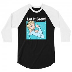 funny gym elsa let it grow frozen fitness 3/4 Sleeve Shirt | Artistshot