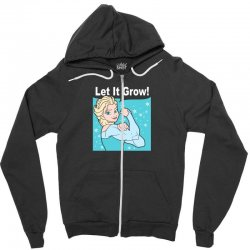 funny gym elsa let it grow frozen fitness Zipper Hoodie | Artistshot