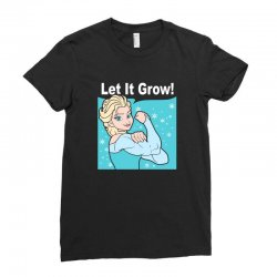 funny gym elsa let it grow frozen fitness Ladies Fitted T-Shirt | Artistshot