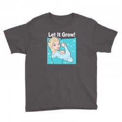 funny gym elsa let it grow frozen fitness Youth Tee | Artistshot