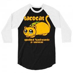 funny tacocat 3/4 Sleeve Shirt | Artistshot