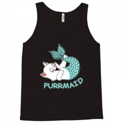 funny purr maid cat mermaid Tank Top | Artistshot