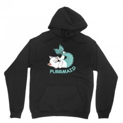 funny purr maid cat mermaid Unisex Hoodie | Artistshot