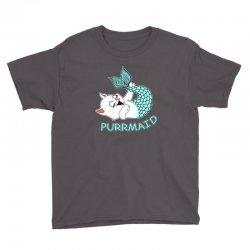 funny purr maid cat mermaid Youth Tee | Artistshot